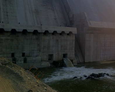 Dam and water