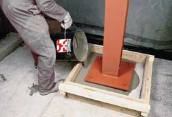 Stanchion grout